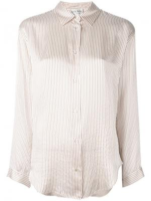Рубашка в тонкую полоску Forte. Цвет: телесный