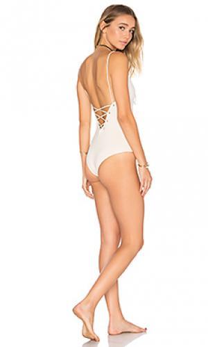 Слитный купальник monahan TAVIK Swimwear. Цвет: ivory