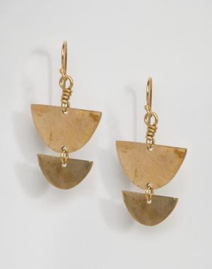 Made Серьги-подвески. Цвет: золотой