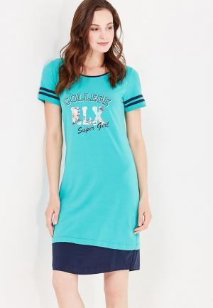 Сорочка ночная Relax Mode. Цвет: бирюзовый