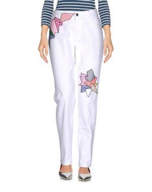 Джинсовые брюки CHRISTOPHER KANE. Цвет: белый