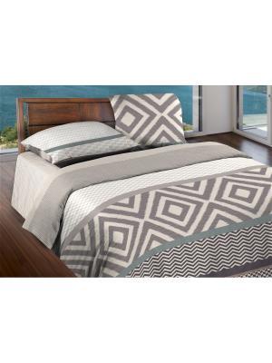 Комплект постельного белья 2,0 бязь Stetson Wenge. Цвет: серый, бежевый