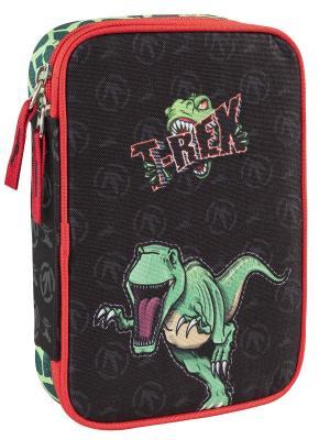 Пенал с канцтоварами Динозавр Тирекс Target. Цвет: черный, зеленый, салатовый