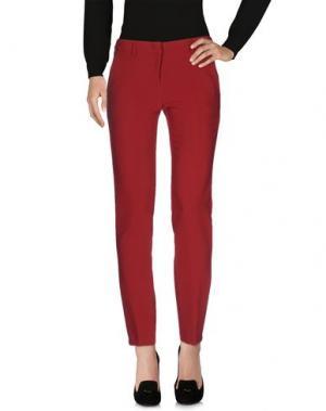 Повседневные брюки CARLA MONTANARINI. Цвет: кирпично-красный