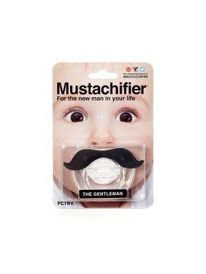 Пустышка Mustachifier - Gentleman. Цвет: прозрачный, черный