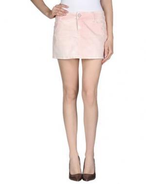 Джинсовая юбка JFOUR. Цвет: розовый