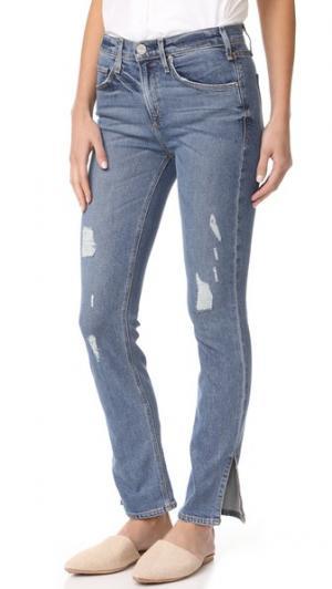 Прямые джинсы Valetta с разрезами внизу McGuire Denim. Цвет: волны