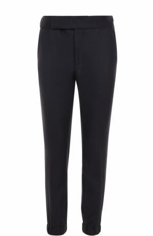 Кашемировые брюки с манжетами на резинке Zegna Couture. Цвет: темно-синий