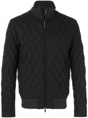 Стеганая куртка Ermenegildo Zegna. Цвет: серый
