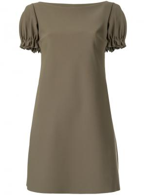Платье шифт с короткими рукавами Chiara Boni La Petite Robe. Цвет: зелёный