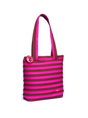 Сумка Premium Tote/Beach Bag, цвет розовый/коричневый ZIPIT. Цвет: коричневый, розовый