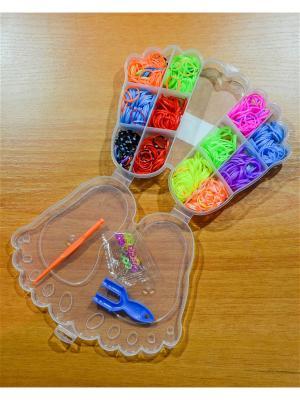 Набор резинок для плетения 600 крючок рогатка S-зажимы Loom Bands. Цвет: прозрачный