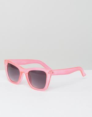 Jeepers Peepers Солнцезащитные очки в розовой оправе. Цвет: розовый