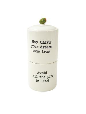 Набор банок Stacking Snack Jar BOSTON. Цвет: белый, зеленый