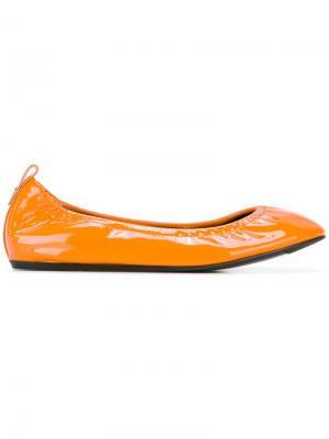 Классические балетки Lanvin. Цвет: жёлтый и оранжевый