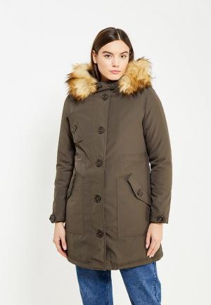Куртка утепленная B.Style. Цвет: хаки