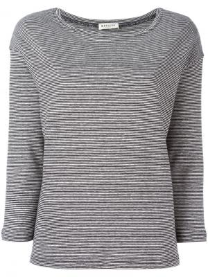 Striped sweatshirt Masscob. Цвет: чёрный