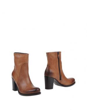 Полусапоги и высокие ботинки ALBERTO FERMANI. Цвет: желто-коричневый