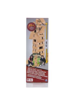 Настольная игра Spin Master Падающая башня гигант. Цвет: синий, коричневый