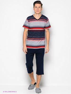 Комплект одежды Vienetta Secret. Цвет: красный, темно-синий