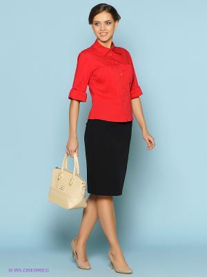 Блузка Stets. Цвет: красный