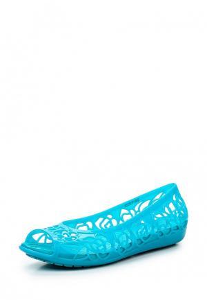 Балетки Crocs. Цвет: голубой