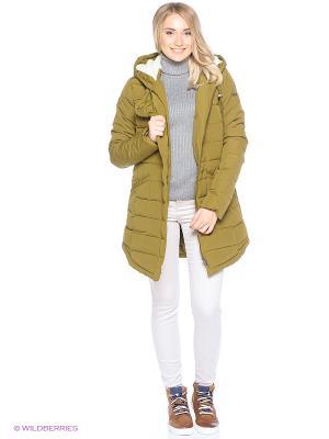 Куртка ROXY. Цвет: оливковый