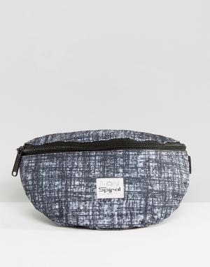 Spiral Сумка-кошелек на пояс с принтом штриховки. Цвет: черный