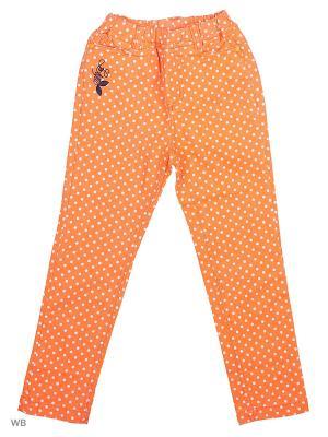 Брюки Liguo. Цвет: оранжевый
