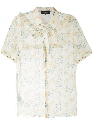 Рубашка со стрекозами Rochas. Цвет: многоцветный