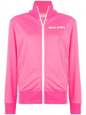 Классическая спортивная куртка Palm Angels. Цвет: розовый и фиолетовый