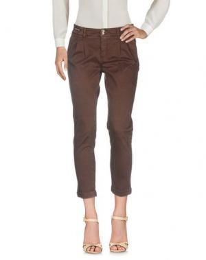 Повседневные брюки TELERIA ZED. Цвет: какао