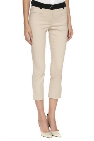 Укороченные брюки с застежкой на молнию Max Mara. Цвет: бежевый, черный