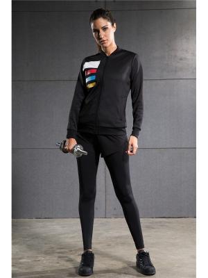 Леггинсы-шорты Vansydical FBF001. Цвет: черный,розовый