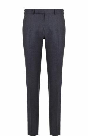 Шерстяные брюки прямого кроя Ermenegildo Zegna. Цвет: голубой