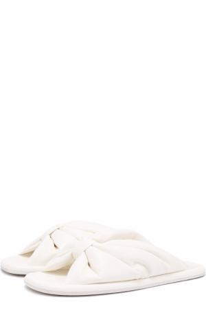 Кожаные сабо с перемычкой Balenciaga. Цвет: белый