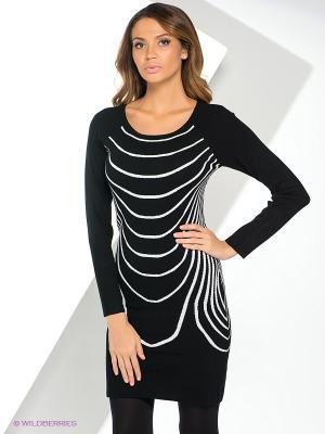 Платье Yuka. Цвет: черный, светло-голубой