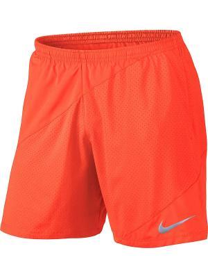 Шорты M NK FLX SHORT 7IN DISTANCE Nike. Цвет: оранжевый
