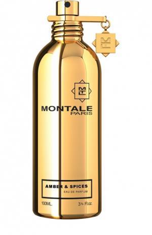 Парфюмерная вода Amber & Spices Montale. Цвет: бесцветный