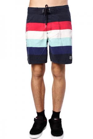 Пляжные мужские шорты  Retro Stud Mid Tip Blue Insight. Цвет: синий