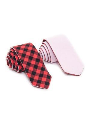 Галстук Churchill accessories. Цвет: черный, бледно-розовый, бордовый, красный, светло-коралловый, темно-красный