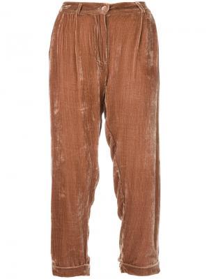 Укороченные брюки Giuliano Mes Demoiselles. Цвет: телесный