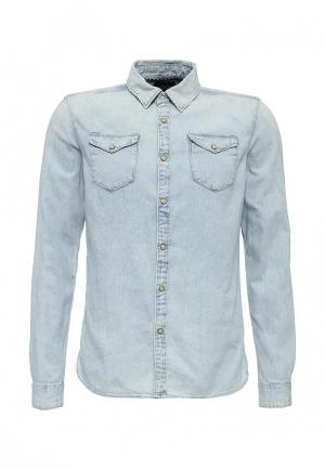 Рубашка джинсовая Scotch&Soda. Цвет: голубой