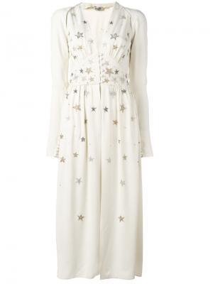 Декорированное платье Cher Attico. Цвет: белый