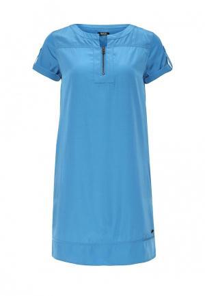 Платье Rifle. Цвет: голубой