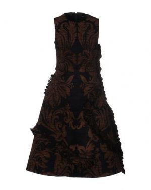 Платье до колена SIMONE ROCHA. Цвет: какао