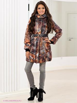 Пальто Alisa Line. Цвет: черный, коричневый, рыжий