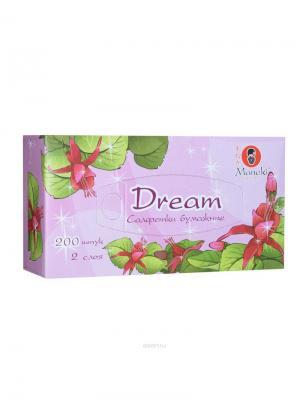 Салфетки бумажные Dream 2 слоя, 200 шт./коробка Maneki. Цвет: розовый