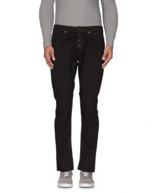 Джинсовые брюки (M) MAMUUT DENIM. Цвет: темно-коричневый