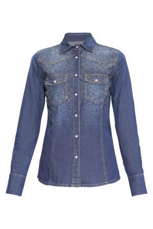 Рубашка из хлопка 160395 Anna Rita N. Цвет: синий